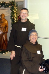Fr. Mark Soehner, OFM, and Br. Al Mascia, OFM, the Mall Outreach of Christmas 2013