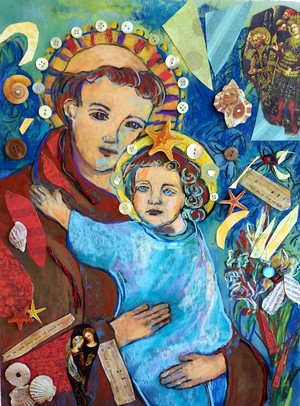 Miriam's painting of St. Anthony and Christ child