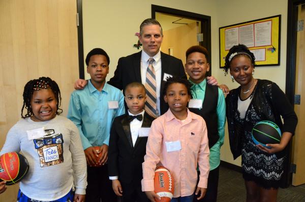 Program Director Parrish Ozias with Friars Kids
