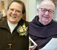 Sr. Ann Bartko, OSC, and Fr. Hilarion Kistner, OFM