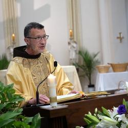 friar at pulpit