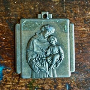 square St. Anthony medal