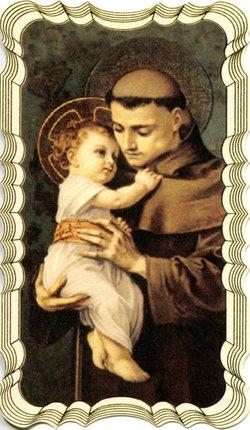 St. Anthony prayer card