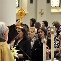 priest raising relic