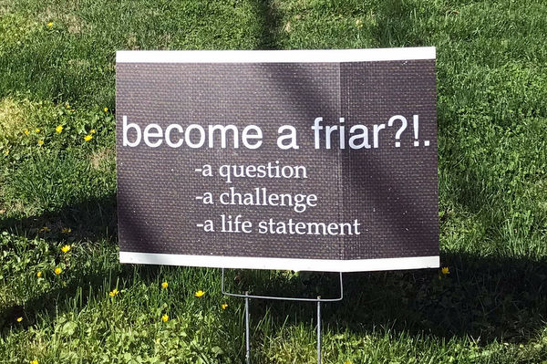 Become a friar sign