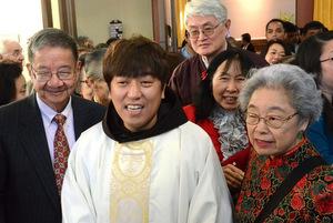 Fr. Bonaventure Huber with his new parish
