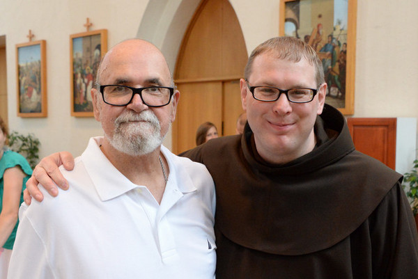 Br. Michael Charron, OFM, and his father Robert