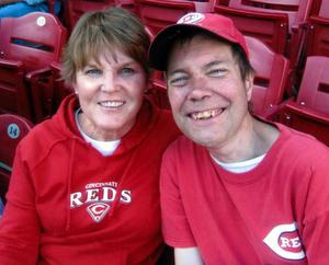 Barb and Jeff at a Reds game