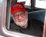 Fr. Tom, 85, Pastor, Holy Name Church, Cincinnati participating in the Red's Opening Day Parade.