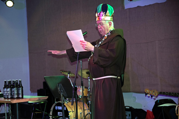 Fr. Carl Langenderfer blessed the St. Anthony Quad Beer