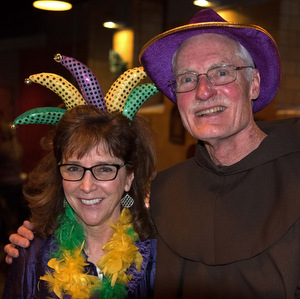 Friar Works Co-Director Colleen Cushard and Provincial Vicar Fr. Frank Jasper