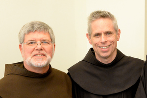 Fr. Jeff with General Minister Fr. Michael Perry, OFM