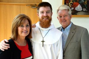 Fr. Richard Goodin, OFM, with his parents Judy and Rick