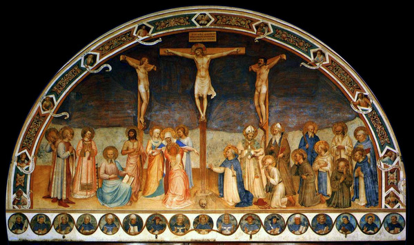 'Crucifixion and Saints' by Fra Angelico (1441-1442) Public domain