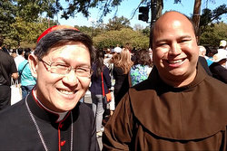 Cardinal Luis Antonio Tagle of Manila with Br. Roger