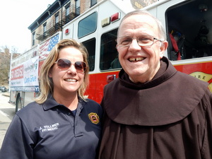 Firefighter and friar