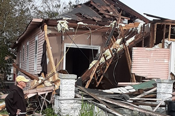 friar by home destroyed by hurricane
