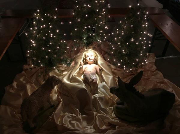 Baby Jesus in the nativity
