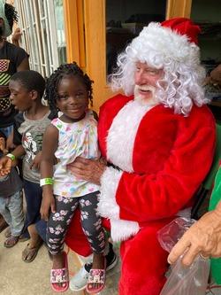 Santa and children