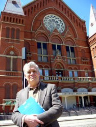 Br. Bob in front of Music Hall
