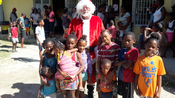Santa didn't disappoint the children at St. Anthony's Kitchen.
