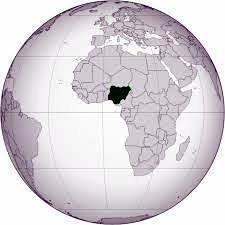 Nigeria on world globe