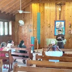 friar in church