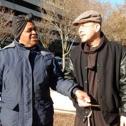 Br. Michael Radomski on the streets of Detroit