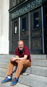 Jeff on the steps on Roger Bacon HS