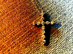 cross with diamond stones