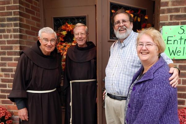 2 friars and 2 parishioners