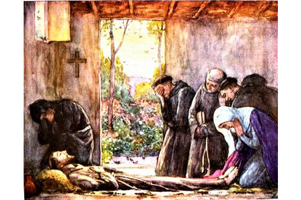 painting of st francis death
