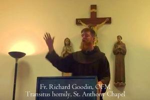 Goodin Transitus homily