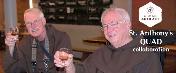 Fr. Frank Jasper and Fr. Carl Langenderfer invite you to the St. Anthony Quad Beer Release Party and Fundraiser at Urban Artifact Brewery