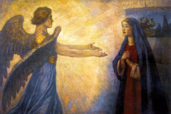 'Annunciation' by Vasily Surikov (1914) Public domain