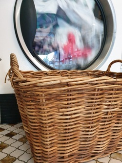 dryer and laundry basket