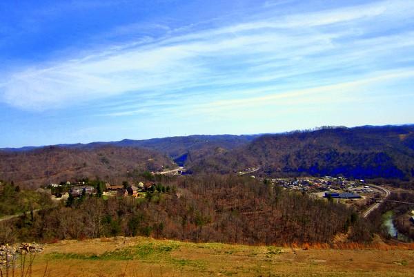 Hills and blue sky of Kentucky