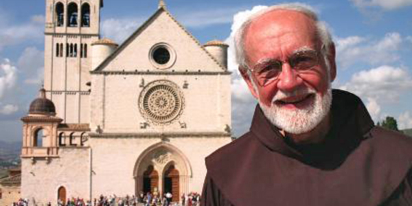 Fr. Murray stands outside the Basilica of St. Francis in Assisi, Italy